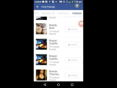 How to remove fb friends