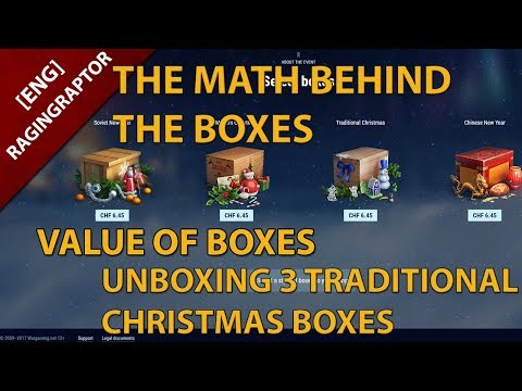 World of Tanks Holiday-Ops 2018: The Math behind the Boxes, Value of the Boxes and 3 boxes unboxed