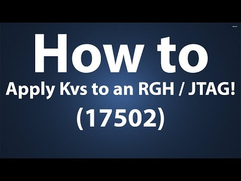 @TTGTom | HOW TO APPLY KVS TO AN RGH / JTAG