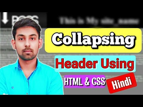 Collapsing Header Effect For Your Website Using HTML & CSS In Hindi ( By Nirbhay Kaushik )