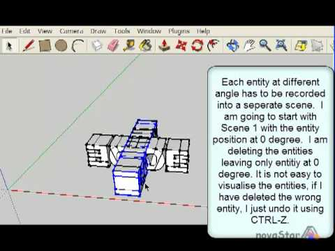 SketchUp - 3D spinning text no layers and plugin