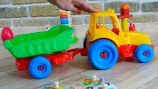 Kinderfilm - Brettspiel - Puzzle - vehicles for kids train, plane, ambulance, bus, ship