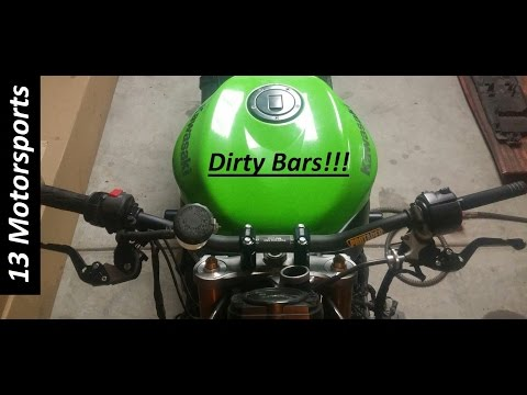 Streetfighter Motorcycle build- Dirty bars install!