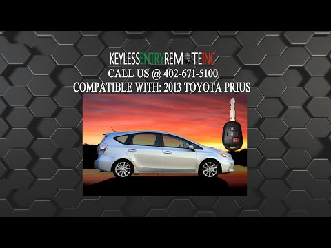 How To Replace A Toyota Prius Key Fob Battery 2012 - 2016
