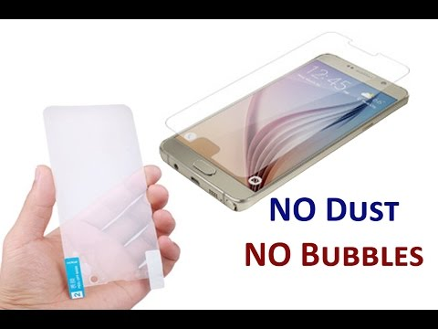 How to put Screen Protector on Mobile Phone Screen easily without Bubbles & Dust