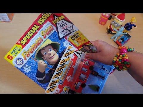 FIREMAN SAM MAGAZINE WITH FREE JUPITER FIRE ENGINE TRUCK TOY Comic in English