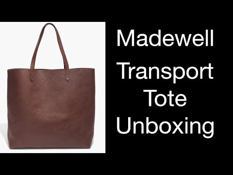 Madewell Transport Tote Unboxing