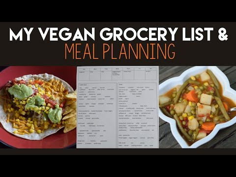 How to Make a Vegan Grocery List & Meal Planning