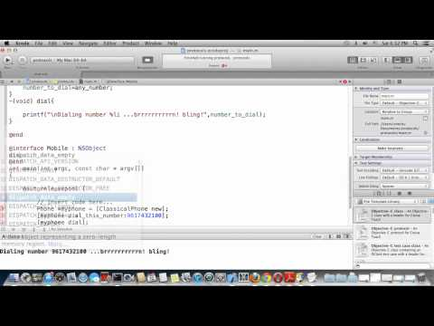 Objective C and MacOSX Programming Tutorial-25:Protocols.(English Version)