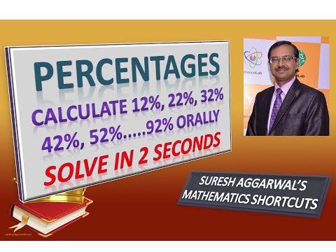 Trick 336 - Find 12%, 22%, 32%,.........,92% Mentally in 3 Seconds