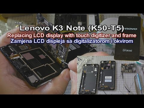 Lenovo K3 Note (K50-T5)-Replacing LCD display with touch digitizer and frame