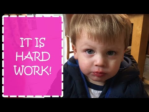 IT'S HARD WORK | TODDLER TROUBLES | DAILY VLOG | DITL