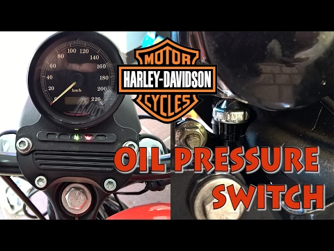 How to replace oil pressure switch on Harley-Davidson Sportster