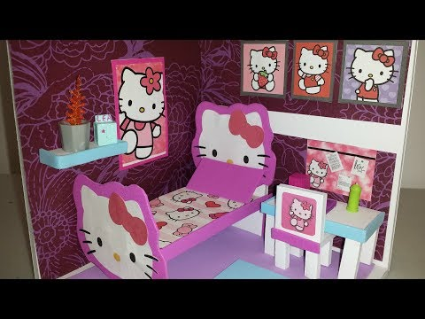 DIY Miniature Doll House - Hello Kitty Bedroom