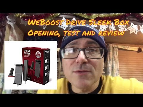 WeBoost Drive Sleek box opening & review for use with Verizon Unlimited in a RV