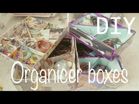 ☁ Make your own organizer boxes ♥ make up / jewelry organizer :)