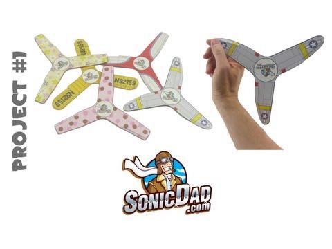 Indoor Boomerang - SonicDad Project #1