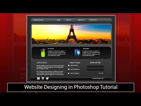 Website Designing in Photoshop Tutorial