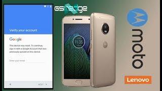 Remove FRP Google Account Moto G5 Plus XT1686 XT1681 XT1683
