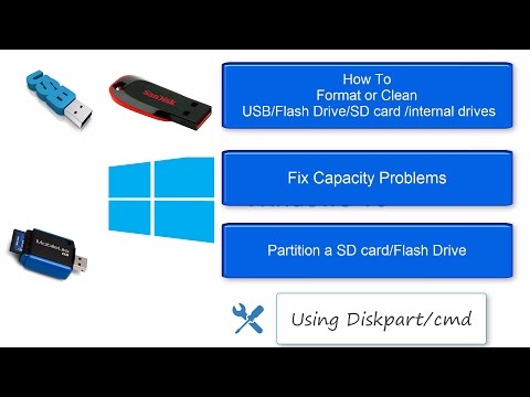 Format/Fix/partition USB using cmd [Diskpart] in windows