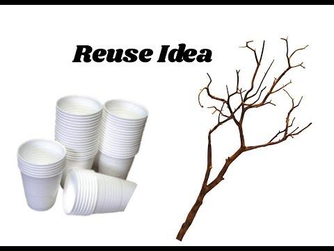 Reuse idea with disposable cups | Home decor idea