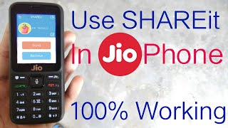 How To Use SHAREit In JioPhone | Send Or Share Files To Jio Phone |  New Tips And Tricks | In Hindi