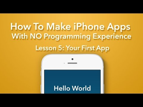 How To Make an App - Ep 5 - Your First Swift App (Xcode 7, iOS 9)