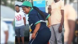 Drunk or happy? Video of dancing petrol attendant goes viral