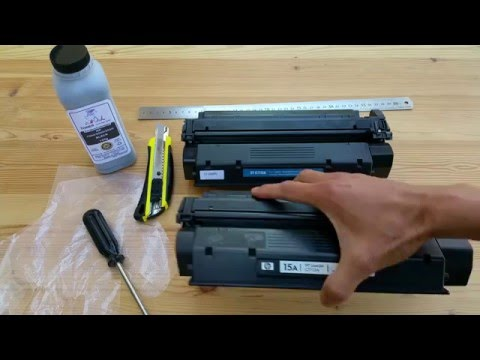 Tutorial On How To Remove And Refill HP LaserJet Cartridge Toner Part 1