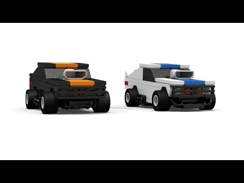 LEGO Small Scale Drag Race Cars Instructions