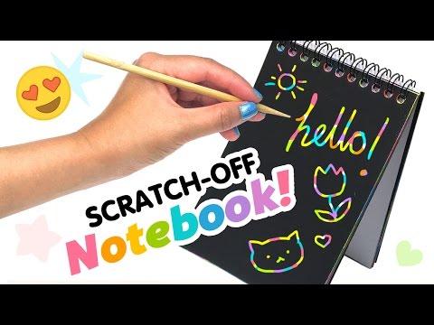 DIY Scratch-Off Rainbow Notebook! DIY Weird Back To School Supplies!!