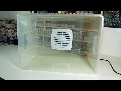 DIY - Easy to Clean Airbrush Paint Booth