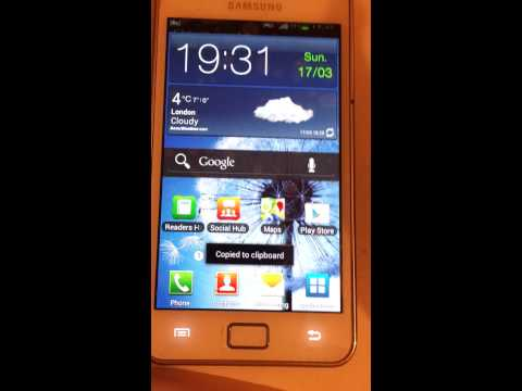 How to screenshot on a Samsung Galaxy S2 GT-i9100