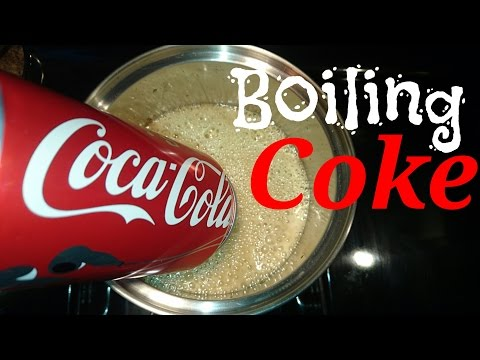 I boiled coke and I found this...