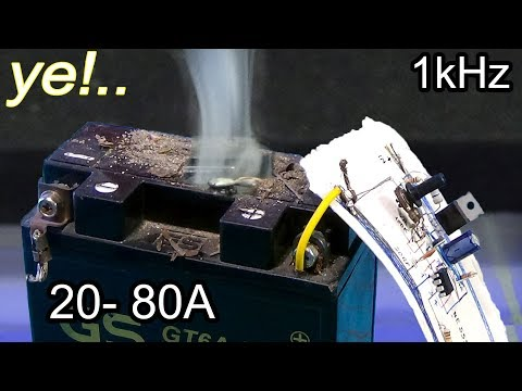 How do I recover a deeply discharged battery? Simple sulfate recovery circuit. M13
