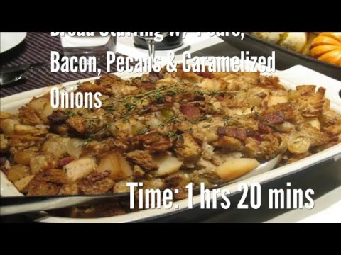 Bread Stuffing W/ Pears, Bacon, Pecans & Caramelized Onions Recipe