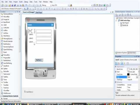 ITEC220 VB.NET Mobile Apps -Add Contact Part 1 of 2