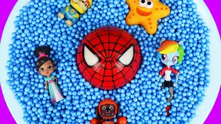 Learn Characters with Spiderman, Pj Masks, Paw Patrol and Barbie for Kids and Children Learning