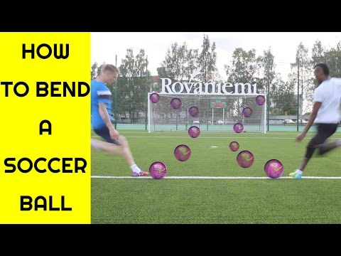 How to bend a soccer ball   Free kick tutorial   Curve ball tutorial