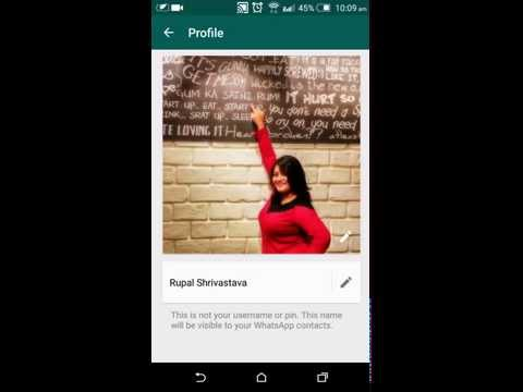 How to change Profile Picture on Whatsapp