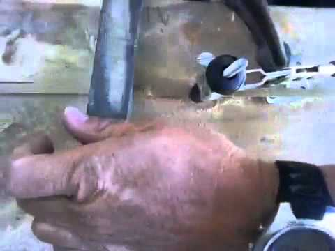 Removing enamel - Bamboo fly rod building