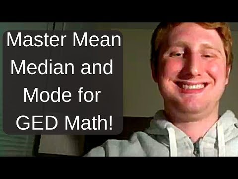 GED Math: Mean, Median, Mode, and Range Video 1