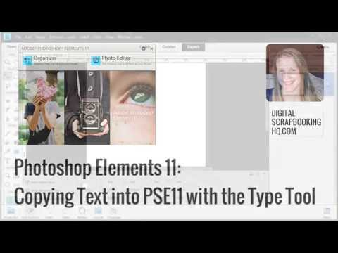 Copy text with fonts and colours in Photoshop Elements 11