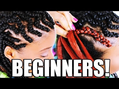 How To: Cornrow Braid Hair FOR BEGINNERS! (Step By Step)