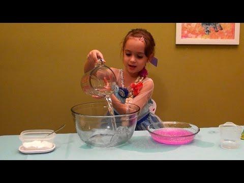 How to Make Pink Glitter Slime and Slime Princess Dress