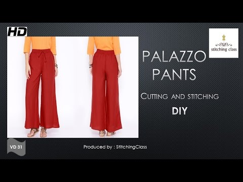 Palazzo Pants Cutting and Stitching DIY