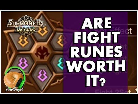 SUMMONERS WAR : Are Fight Runes Worth It?   (Damage Comparison)