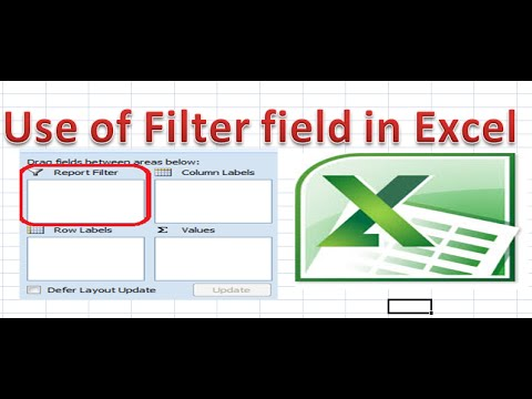 How to Use to Report Filter field in Excel