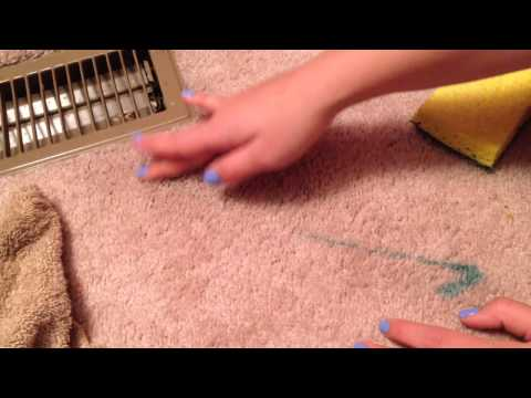 How to get nail polish out of carpet!