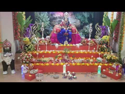 Varamahalakshmi pooja decoration by praniti shetty